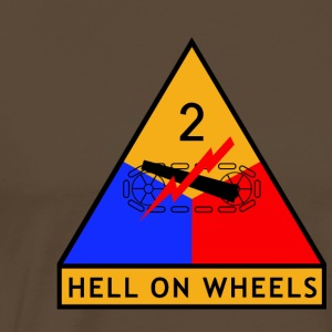 2nd_Armored_Division - Premium-T-shirt herr
