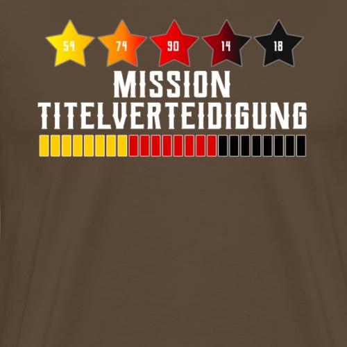 Deutschland Fußball Fanshirt Titelverteidigung - Männer Premium T-Shirt