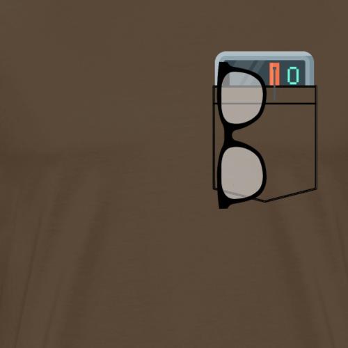 Nerd Pocket - Maglietta Premium da uomo