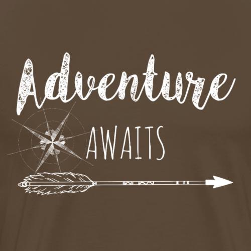 Adventure Awaits - White - Männer Premium T-Shirt