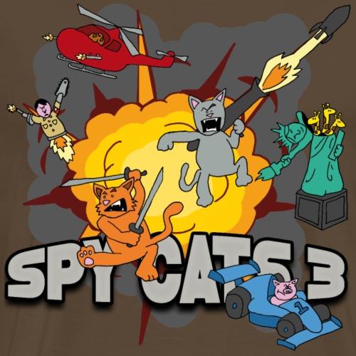 Spy Cats 3 - Mannen Premium T-shirt