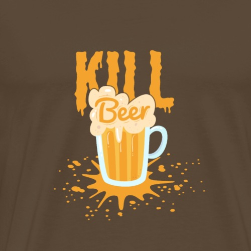 Kill Beer Design - Männer Premium T-Shirt