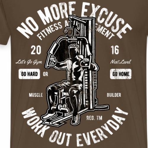 WORKOUT EVERDAY - Workout Fitness Gym Shirt - Männer Premium T-Shirt