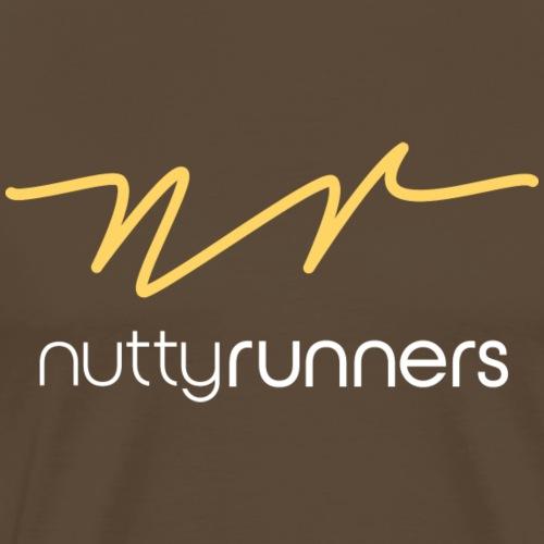 Nutty Runners - Sunshine yellow and white Logo - Men's Premium T-Shirt