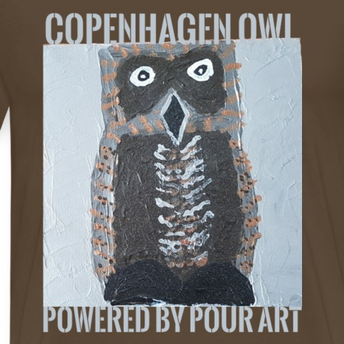 openhagen owl powered by pour art - Herre premium T-shirt