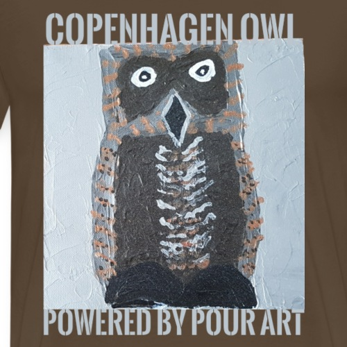 openhagen owl powered by pour art - Herre premium T-shirt