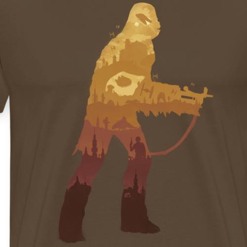 Chewbacca Silhouette - T-shirt Premium Homme