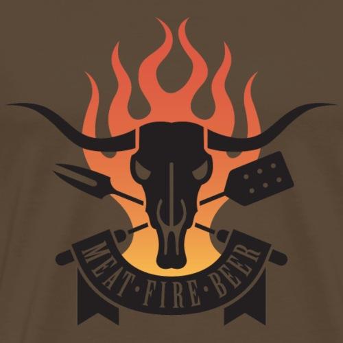 Meat Fire Beer - Männer Premium T-Shirt