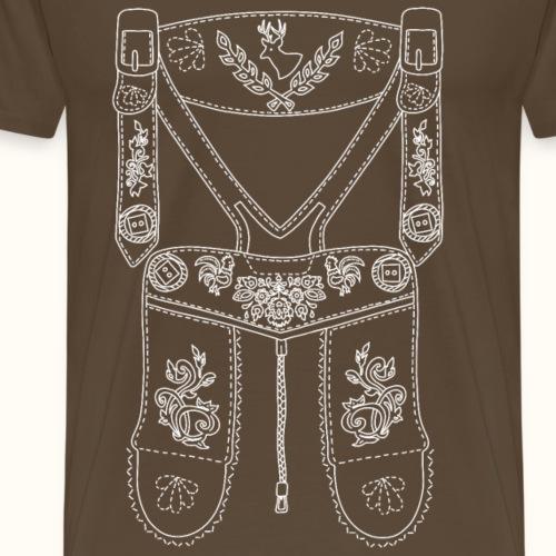 Lederhose - weiß - Männer Premium T-Shirt