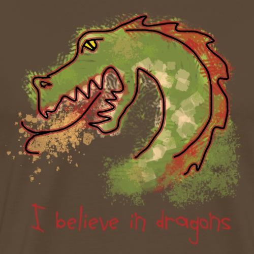 I believe in dragons - Men's Premium T-Shirt