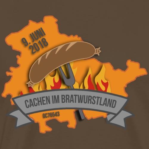 Cachen im Bratwurstland: Edition orange - Männer Premium T-Shirt