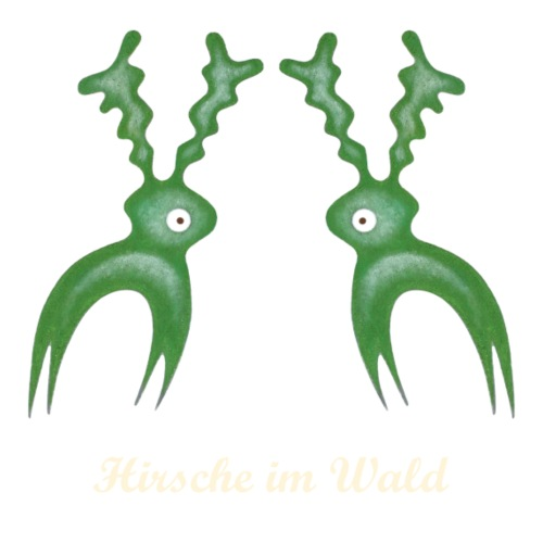 Hirsche im Wald Schrift 1 - hell - Männer Premium T-Shirt
