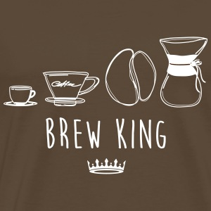 BREW KING - Premium-T-shirt herr
