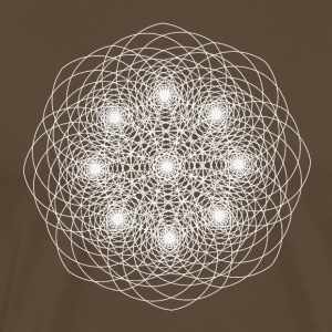 Flower of life of fibonacci - Men's Premium T-Shirt