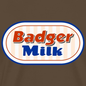 Badger Milk Logo - Herre premium T-shirt