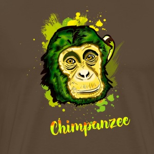 chimp monkey chimp Stadtaffe camouflage chill - Men's Premium T-Shirt