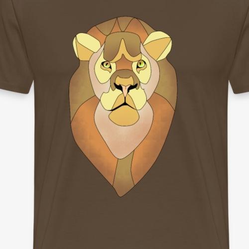 Geometric Lion - Männer Premium T-Shirt