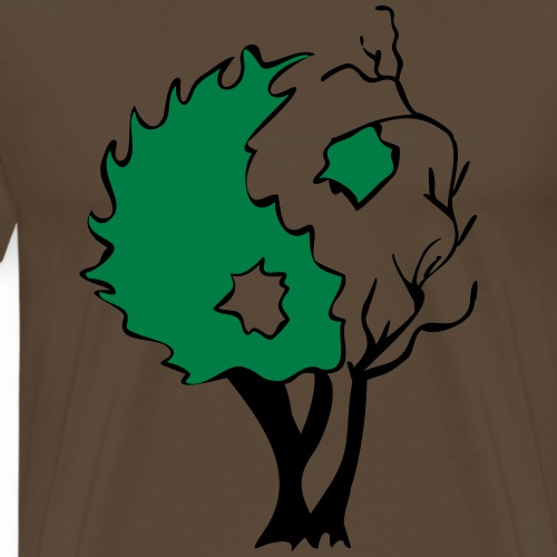 Yin Yang Tree - Men's Premium T-Shirt