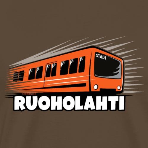17 - METRO RUOHOLAHTI - HELSINKI - LAHJATAVARAT - Miesten premium t-paita