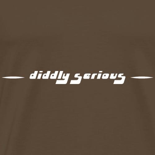 diddly serious weiss - Männer Premium T-Shirt