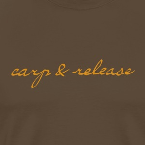 carp and release writing - Men's Premium T-Shirt