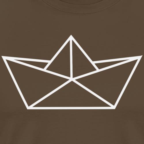 schifforigami_weiss - Männer Premium T-Shirt