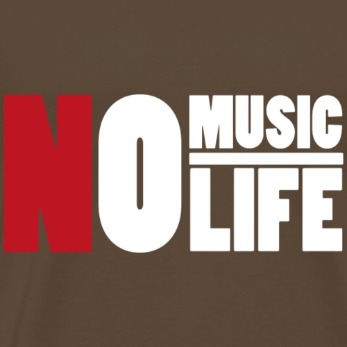 NoMusicNoLifeWhiteRed - Männer Premium T-Shirt