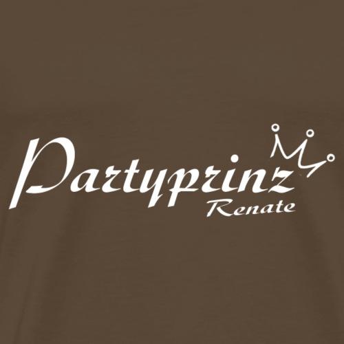 Logo Partyprinz weiss - Männer Premium T-Shirt