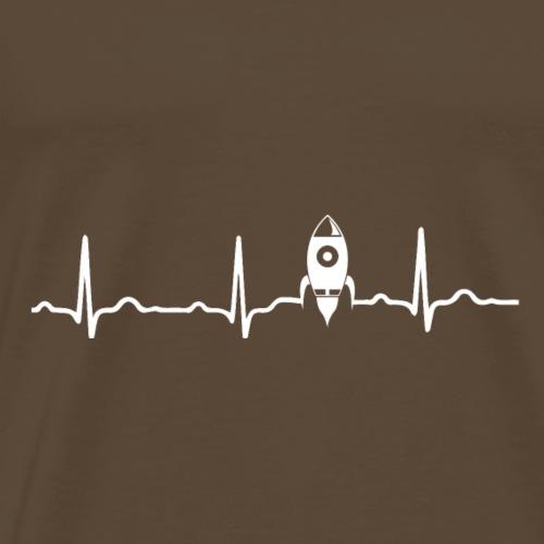 EKG HERZSCHLAG MOND MOON - Kryptowährung White - Männer Premium T-Shirt