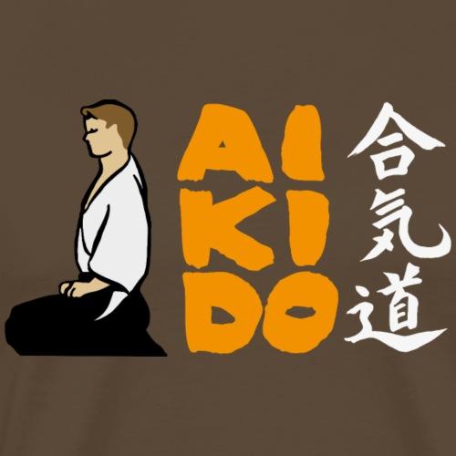 Aikido Seiza -fondos de colores- - Camiseta premium hombre