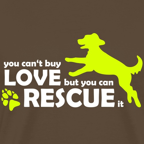 Hund Hunde Rettung - Rescue Dogs - Tierschutz - Männer Premium T-Shirt