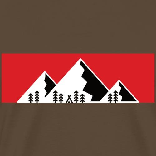 Camping Berge Alpen Mountain - Männer Premium T-Shirt