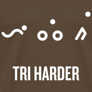 TRI_harder_hvit - Premium T-skjorte for menn