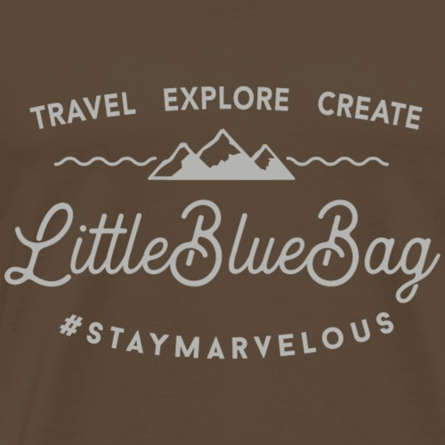 travel explore create grey - Männer Premium T-Shirt