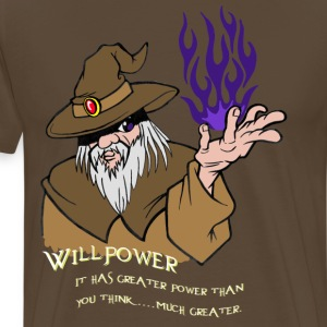 Viljestyrka Wizard Brown / Dark Purple Flame - Premium-T-shirt herr
