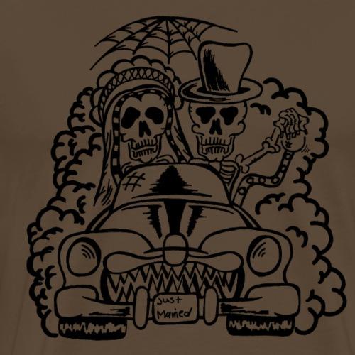Hochzeitsmonster - Skelette (schwarz) - Männer Premium T-Shirt