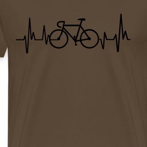Rennrad EKG Shirt - Männer Premium T-Shirt