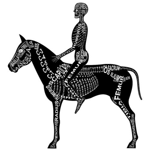 Reiter-Skelett - Männer Premium T-Shirt