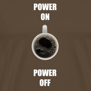 Kaffe tröja POWER ON / OFF - Premium-T-shirt herr