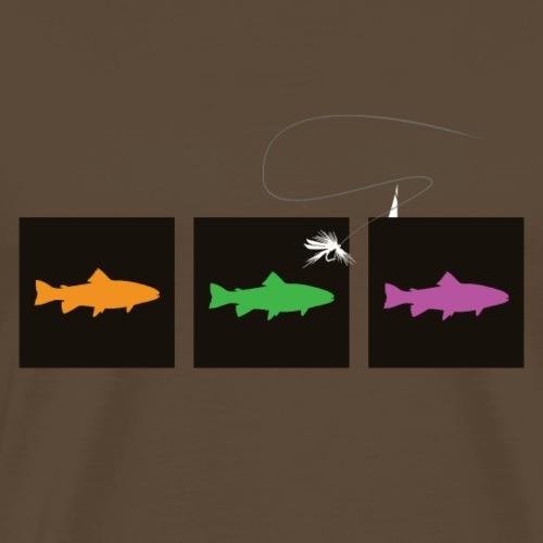 Modell 99 - Forellen Trio - Männer Premium T-Shirt