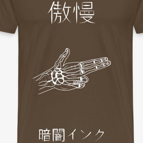 Ténébreuse Ink - Skull Hand Gun White - T-shirt Premium Homme