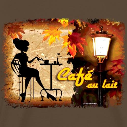 06-29 Cafe au lait series - Miesten premium t-paita