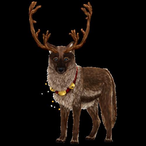 Loup de Noël - Renne - T-shirt Premium Homme