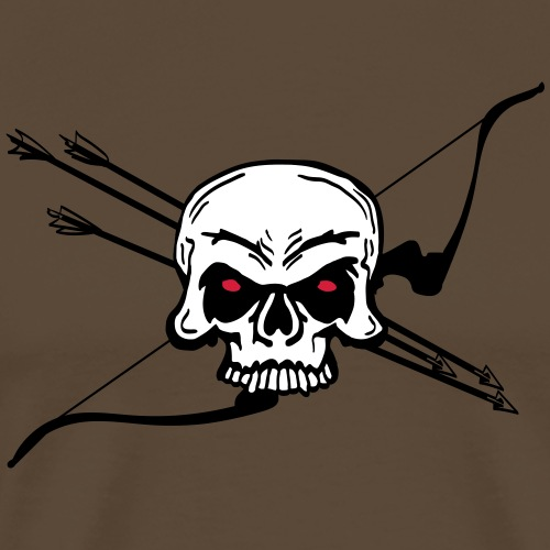 Skull 'n Bow (Bogenschießen by BOWTIQUE) - Männer Premium T-Shirt