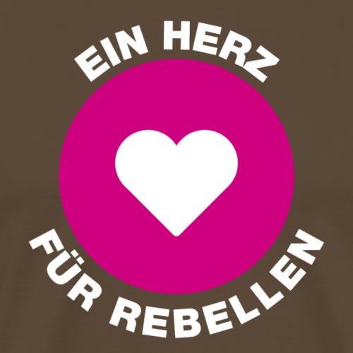 Kopffuessler Button Rebellen weiss - Männer Premium T-Shirt
