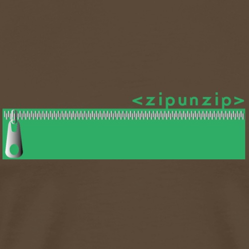 zipunzip - Camiseta premium hombre