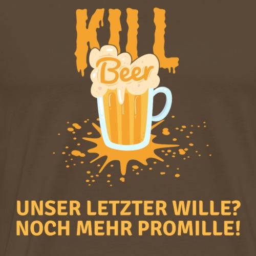Kill Beer Promille Design - Männer Premium T-Shirt