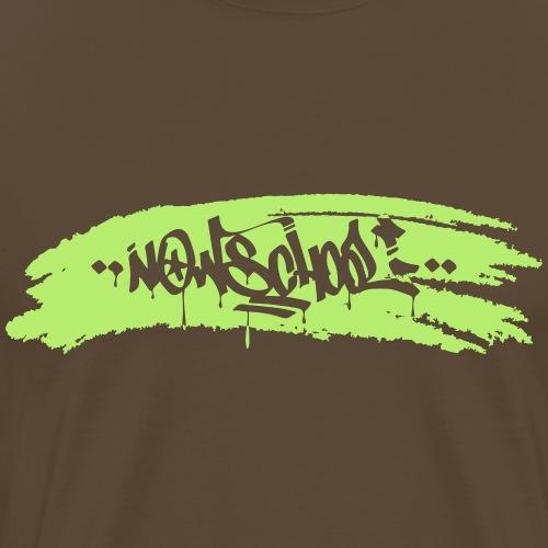 Now-School Tag Splash (Green) - Men's Premium T-Shirt