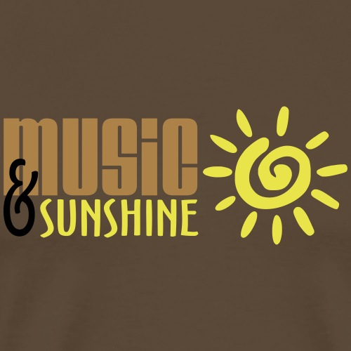 Music and Sunshine - Men's Premium T-Shirt