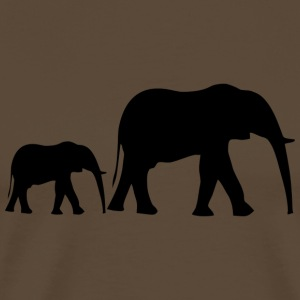Small elephant family + baby elephant from Africa - Men's Premium T-Shirt